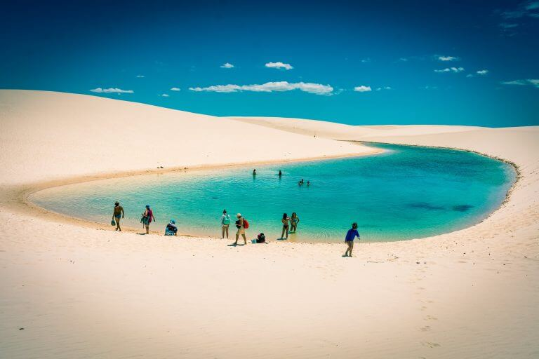 Lencois Maranhenses National Park in Maranhao, Brazil