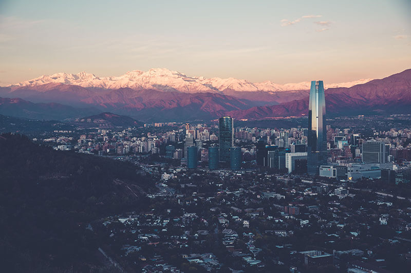 Santiago de Chile in South America