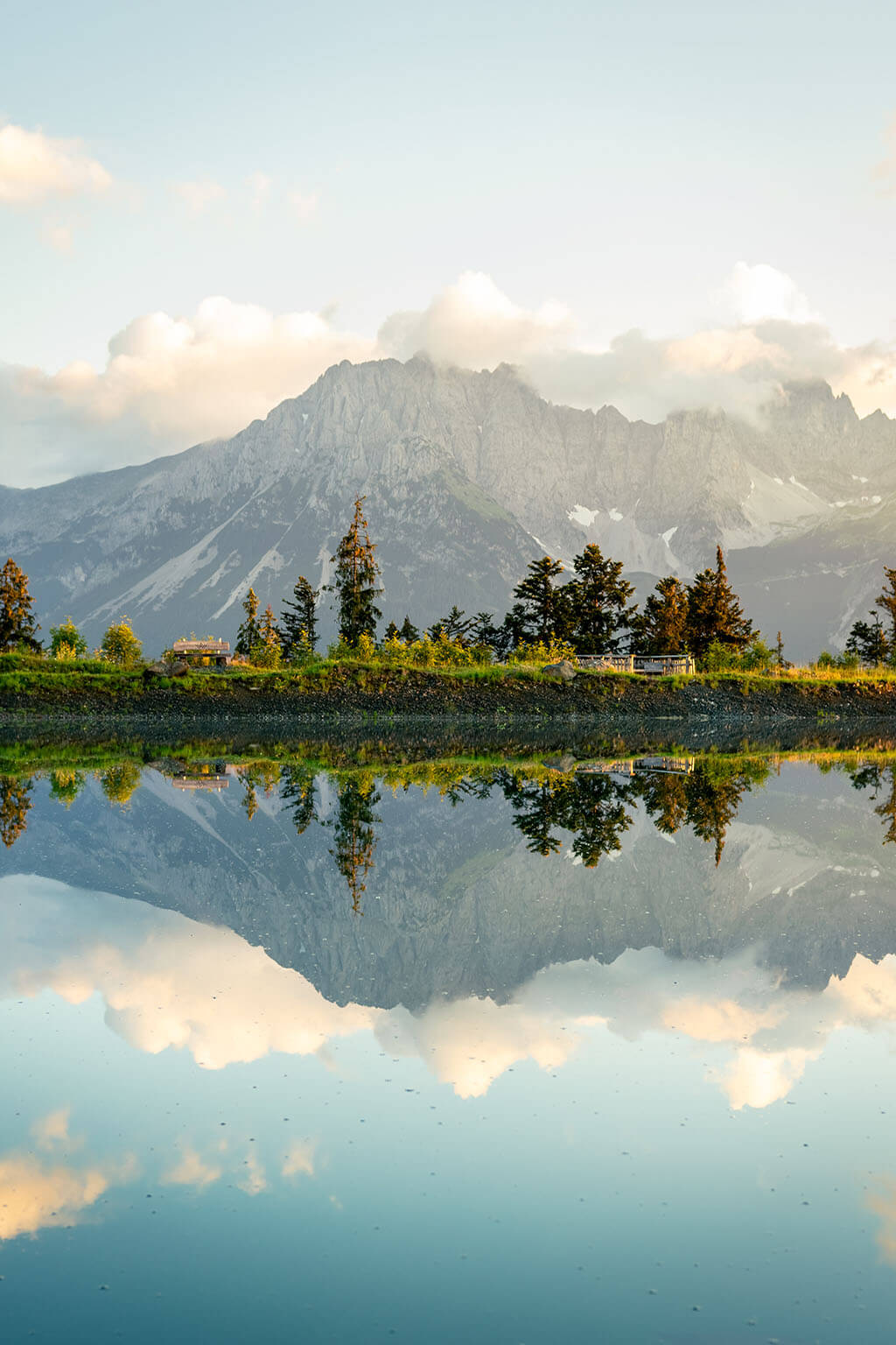The Kaiser Mountains in Tyrol, Austria