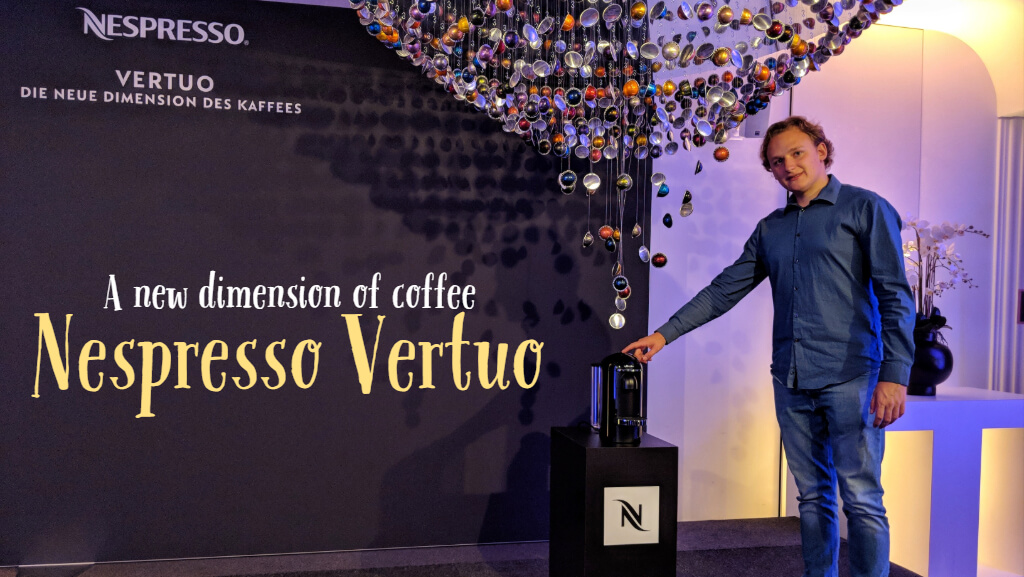 A new dimension of coffee with Nespresso Vertuo