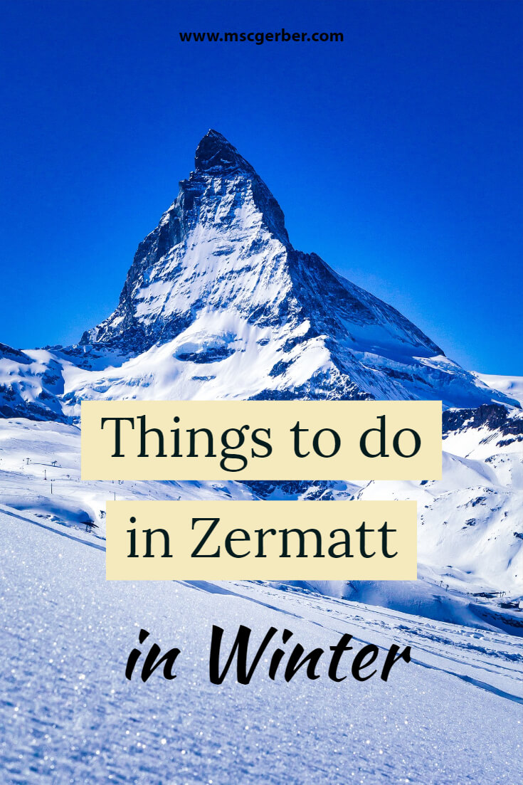 If you plan to visit Zermatt, the beautiful town in Switzerland, during winter you should check out my post about the best things to do in Zermatt in winter! The post is tailored towards travelers and tourists, written by a Swiss, including some great tips.