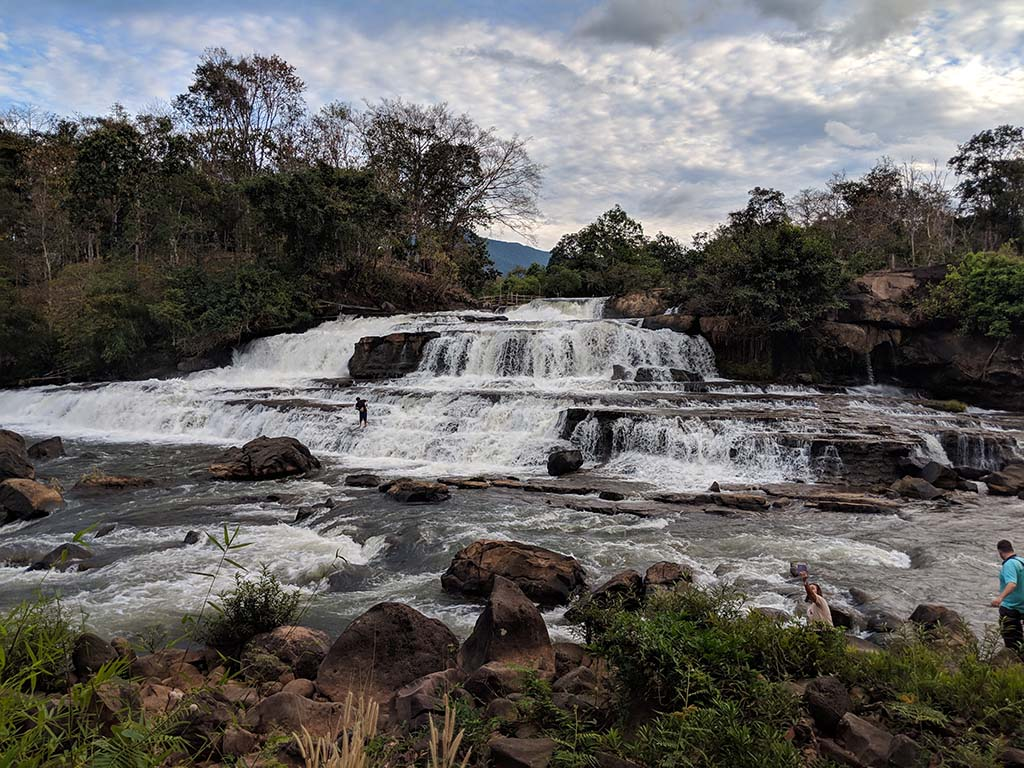 Tad Lo Waterfalls in the Bolaven Plateau in Laos
