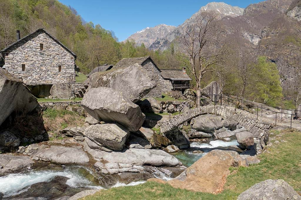 The remote valley of Valle Maggia