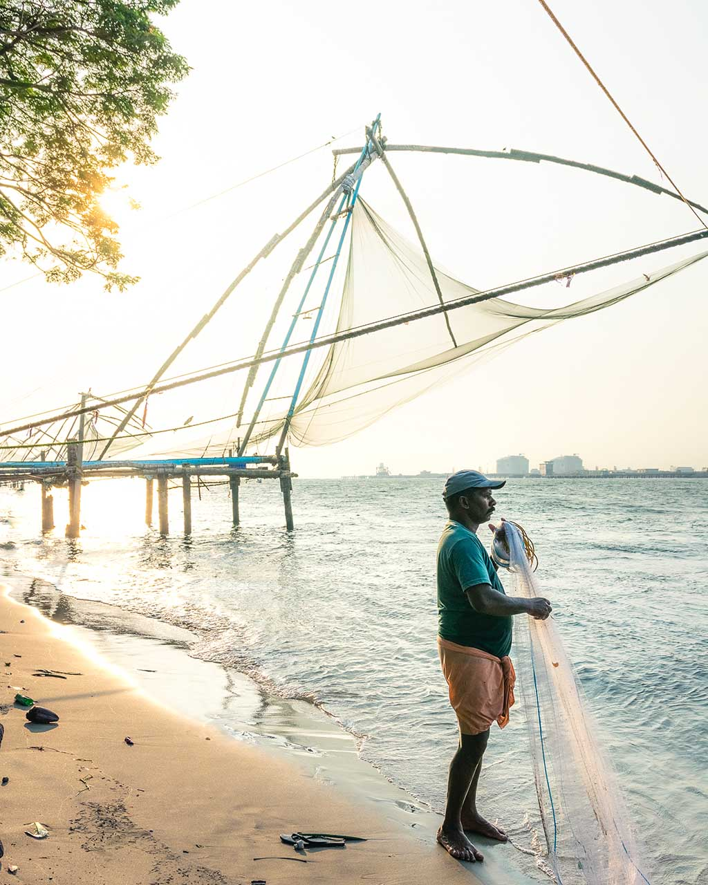 The Chinese Fishing Nets in Fort Kochi, India