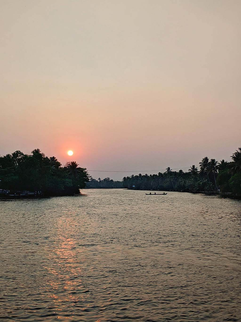 Sunset from my Alleppey Houseboat