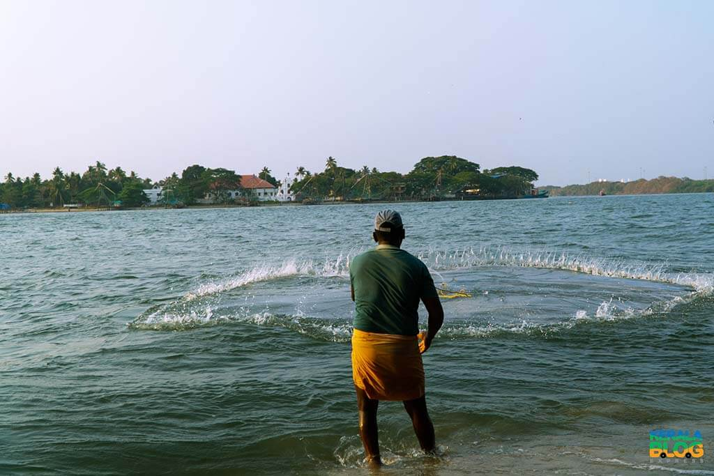 Local fishermen in Kochi, Kerala