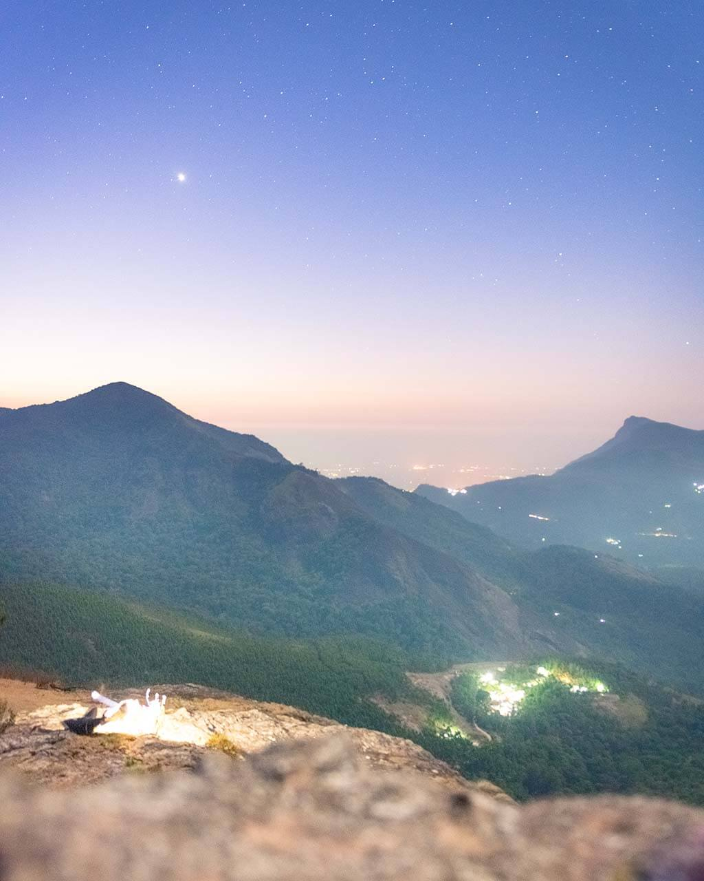 Sky full of stars during our Munnar trekking