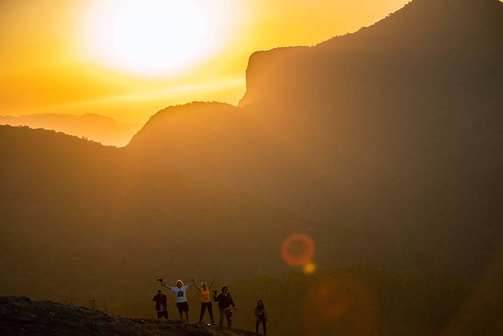 Sunrise from Phantom Peak in Munnar, Kerala (India)